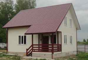 проект деревянного дома 8*7 м
